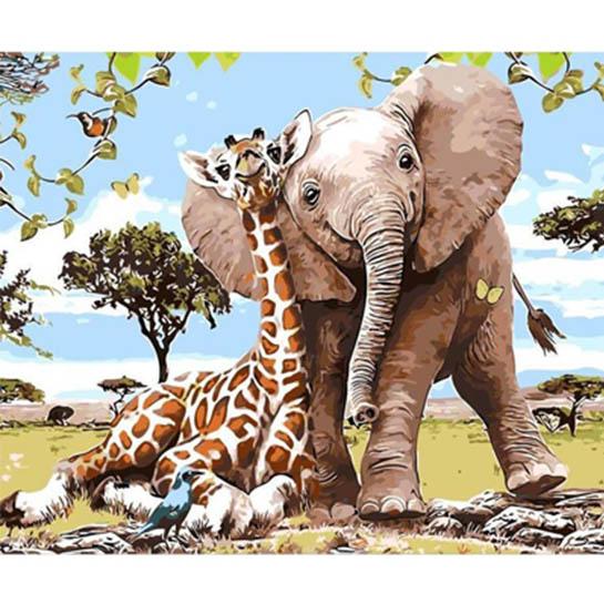 Giraffe & Olifant1