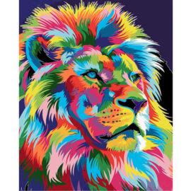 Kleurrijke Leeuw 2.0 Schilderen Op Nummers
