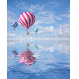 Luchtballonnen In Spiegeling