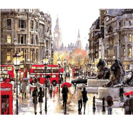 Trafalgar Square Schilderen Op Nummers