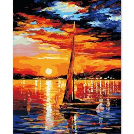 Zeilboot Met Horizon