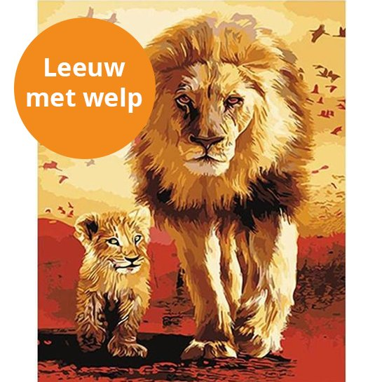 Leeuw Met Welp