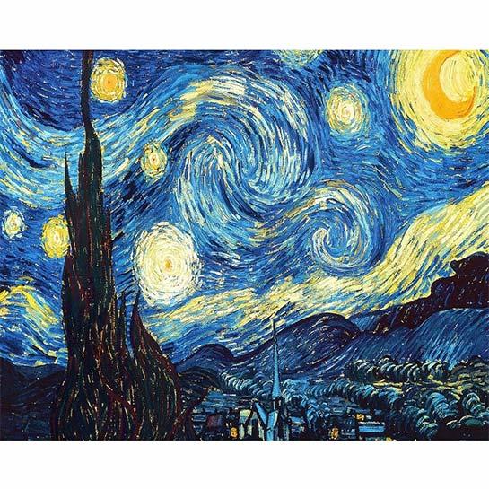 de sterrennacht vincent gogh schilderen op