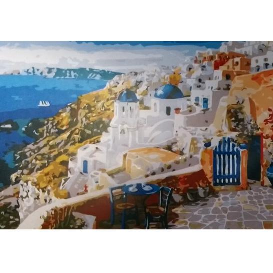 Griekse Kust Schilderen Op Nummers