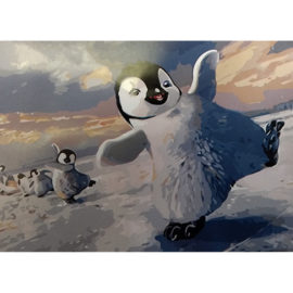 Pinguin Schilderen Op Nummers