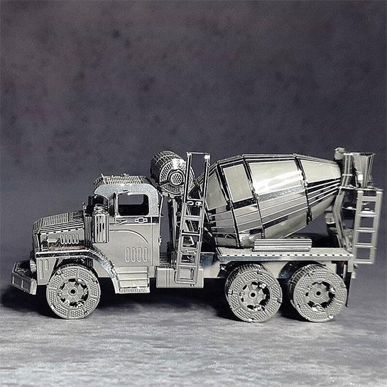 Metalen 3d Zijkant Vrachtwagen