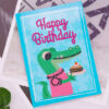 Verjaardagskaart Krokodil Diamond Painting