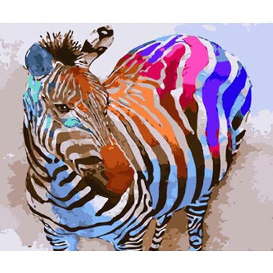 Zebra Schilderen Op Nummers