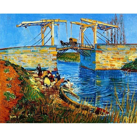 Van Gogh – De Brug Van Langlois Met Wassende Vrouwen