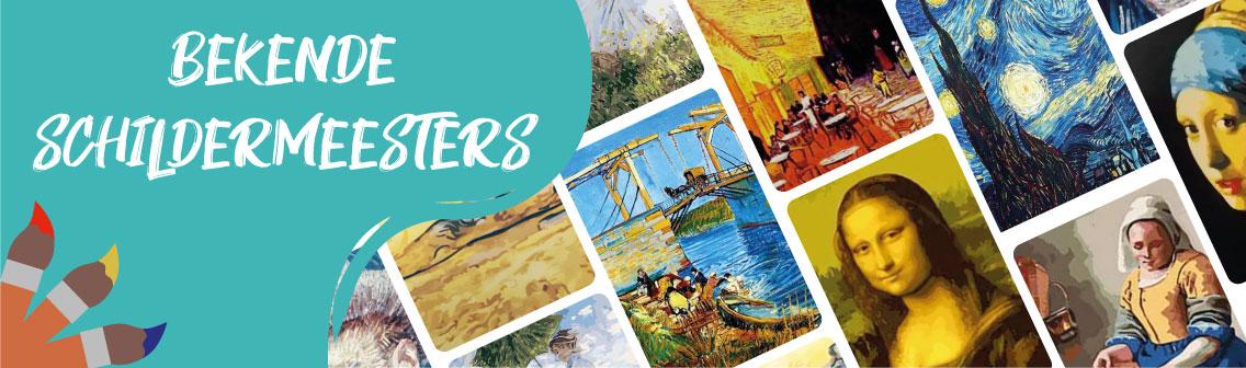 Collage Banner Bekende Schilder Meesters