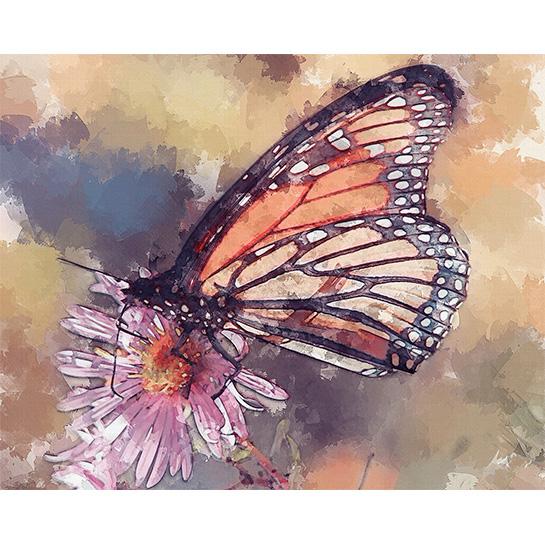 Vlinder Op Bloem Art Tower