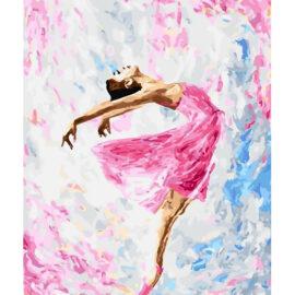 Roze Ballerina Schilderen Op Nummers