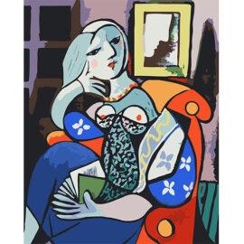 Picasso Vrouw Op Sofa
